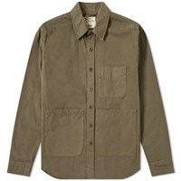 Aspesi Garment Dyed Chore Jacket Green