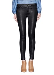 Frame Denim 'Le Skinny De Jeanne' Lambskin Leather Pants Black