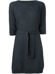 Le Kasha Cashmere 'Prague' Belted Cape Cashmere Grey