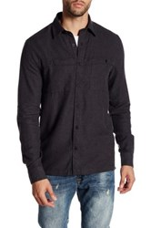 Threads For Thought Long Sleeve Regular Fit Double Pocket Flannel Shirt Black