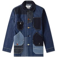 Fdmtl Patchwork Coverall Rinse Jacket Blue