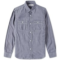 Head Porter Plus Chambray Shirt Blue