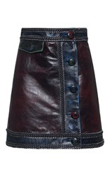 Marco De Vincenzo Leather Mini Skirt Multi