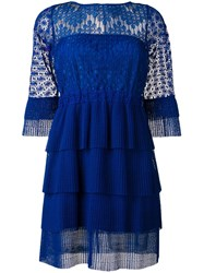Just Cavalli Lace Dress Blue