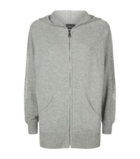 William Sharp Embellished Cashmere Hoodie Female Grey