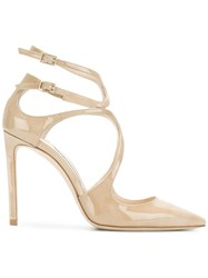 Jimmy Choo Lancer 100 Pumps Nude And Neutrals