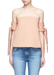 C Meo Collective 'Charged Up' Off Shoulder Bustier Top Neutral Pink