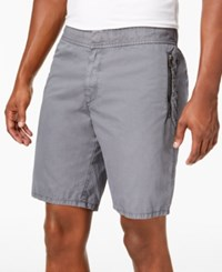 Dkny Zipper Shorts Silver Birch