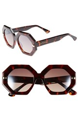 Women's Isaac Mizrahi New York 49Mm Sunglasses Dark Tortoise