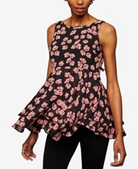 A Pea In The Pod Maternity Floral Print Peplum Top Pink Floral