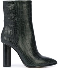Paige Croc Embossed High Heel Boots 60