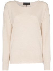 Nili Lotan Knitted Relaxed Fit Cashmere Jumper Neutrals