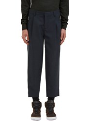 Kolor Relaxed Fit Wool Pants Navy