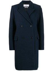 Closed Double Breasted Midi Coat Blue