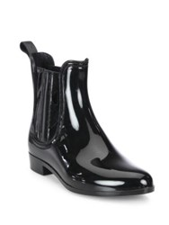 Joie Kada Patent Leather Rain Booties Black