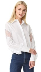 Nina Ricci Long Sleeve Blouse White