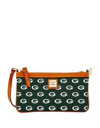 Dooney And Bourke Nfl Green Bay Packers Large Slim Wristlet