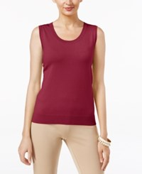 August Silk Scoop Neck Shell Retro Wine