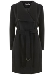 Mint Velvet Black Funnel Neck Coat Black