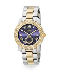 Catherine Malandrino Two Tone Pave Bracelet Watch