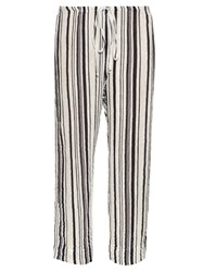 Velvet By Graham And Spencer Omarina Striped Cotton Trousers