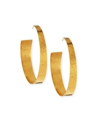 22K Gold Plated Hammered Hoop Earrings Gold Nest Jewelry