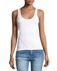 Cheap Monday Solar Ribbed Tank With Cutout Side Black