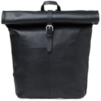 Sandqvist Antonia Leather Rolltop Bag Black