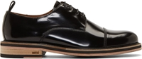 Ami Alexandre Mattiussi Black Leather Layered Sole Derbys