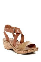 Josef Seibel Kira 13 Strappy Leather Wedge Sandal Brown