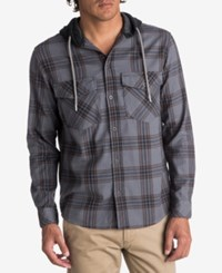Quiksilver Men's Magston Plaid Hoodie Shirt Chocolate