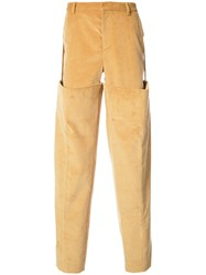 Y Project Extra Leg Slim Trousers Cotton Acetate Yellow Orange