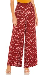 Amuse Society Bright Side Pant In Brick. Rouge