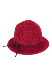 James Lakeland Mohair Texture Cloche Red