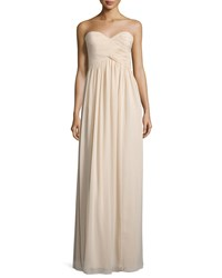 Donna Morgan Strapless Sweetheart Ruched Gown Women's Amethyst
