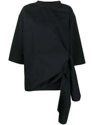 Sofie D'hoore Oversized Side Tie Tunic Black