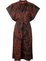 Vivienne Westwood Red Label Floral Kimono Sleeve Dress Black