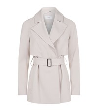 Reiss Vance Trench Jacket Female Stone