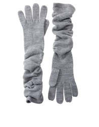 Asos Super Soft Long Gloves Grey