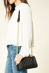 Forever 21 Quilted Faux Leather Crossbody