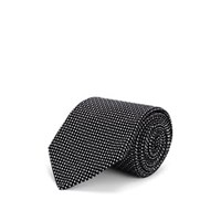 Cifonelli Diamond Dot Silk Jacquard Necktie Black