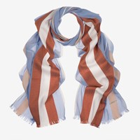 Bally Stripe Jacquard Scarf Blue