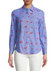 Lord And Taylor Stripe Cotton Button Down Shirt Moonscape