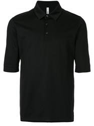 Attachment Classic Fitted Polo Top Black