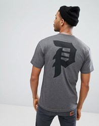 Primitive Skateboarding T Shirt With Back Logo In Grey Grey