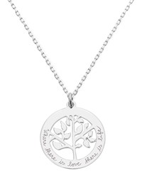 Merci Maman Personalized Tree Of Life Necklace Silver