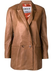 S.W.O.R.D 6.6.44 Double Breasted Blazer Brown