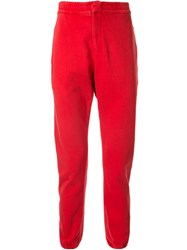 Bassike Slim Fit Track Pants Red