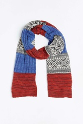 Urban Outfitters Mixed Knit Scarf Multi
