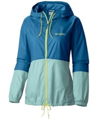 Columbia Flash Forward Water Resistant Windbreaker Dark Cyan Wind